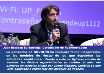 Juan Esteban Saldarriaga, Cofundador de Rapicredit.com; Expresidente de Colombia Fintech